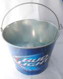 Bud Light, Official Beer of FMF Cerveza Beer Bucket, Galvanised Tin with handle